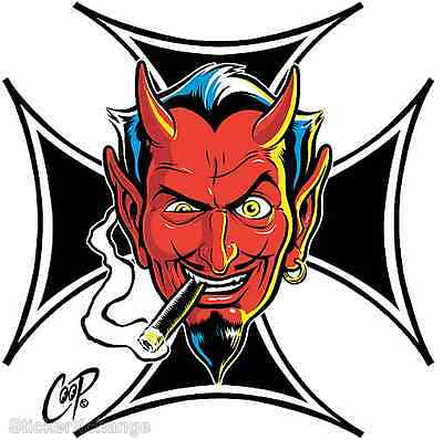 Surf Cross Devil Head STICKER Decal Coop CP66 First Printing! Roth LARGE SIZE