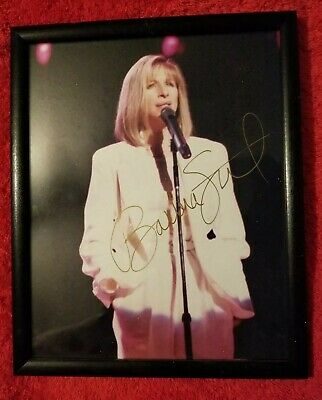 """Barbara Streisand 8""""×10"""" Autographed Color Photo- Signed In Gold-Final Reduction"""
