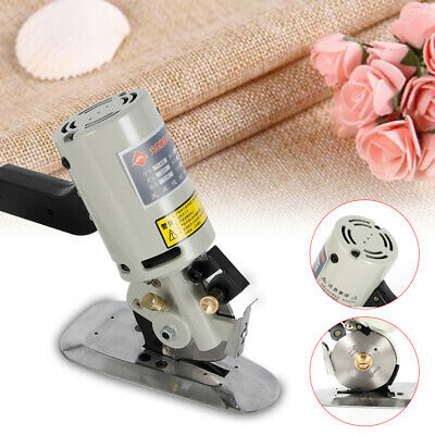 "90mm Rotary Blade Electric Cloth Cutter Tool 3.5"" Fabric Cutting Machine Textile"