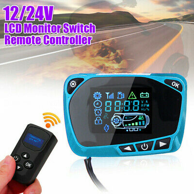 12V/24V Air Diesel Heater Parking Remote Controller + LCD Monitor Switch Board