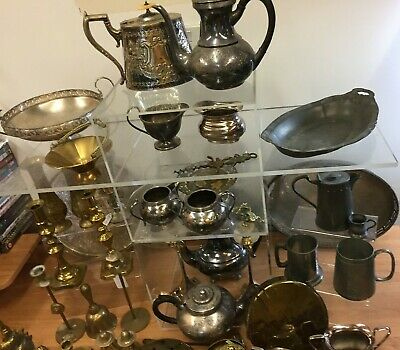 Job Lot Mixed Metals approximately 17 Kg - Brass, EPNS (D4)
