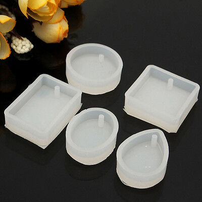 5* Silicone Resin Necklace Mould Craft DIY Tool Pendant Mold Making Jewelry HOT
