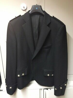 Black Argyll Kilt Jacket (Ex-Hire) Black 36 XL Highland