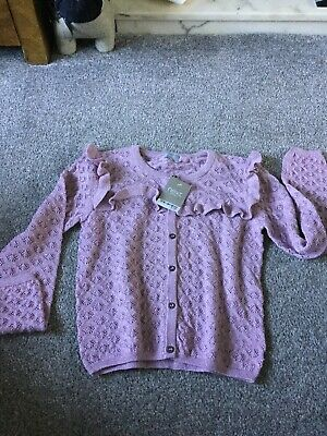 Girls Dusky Pink Sparkly Cardigan Age 8 From Next Bnwt Rrp £16