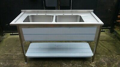 Commercial Catering Sink Double Bowl 1500mm x 600mm