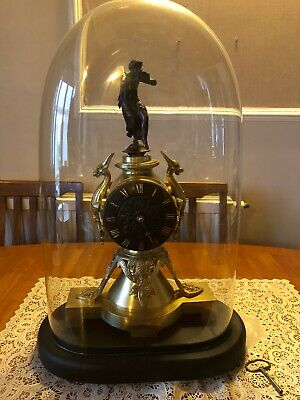 French Brass/bronze Striking Mantle Clock