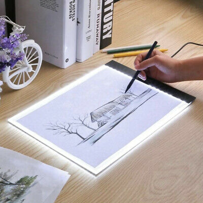 A4 LED Drawing Board Tracing Light Box Stencil Tattoo Copy Artist Craft Table