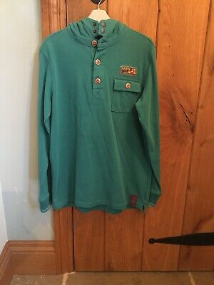 Marks & Spencer Indigo Collection Boy's Turquoise Green Hoodie Age 11-12 Years