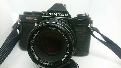 【EXC++++】 PENTAX MV1 35mm SLR Film W/SMC PENTAX-M 50mm F/2 From Japan 217
