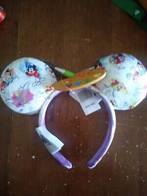 New Disney 2020 Epcot Festival Of The Arts Ink & Paint Minnie Ears Headband