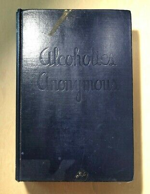 ALCOHOLICS ANONYMOUS 1st Edition 12th Print AA BIG BOOK 1948 Alcoholism Recovery