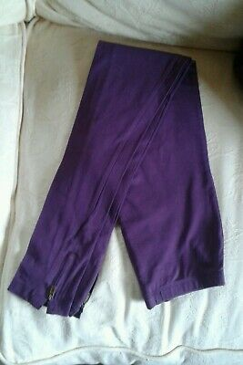 Girls Pepperts Purple Leggings Zip Details Age 10-12 Years EX COND!!