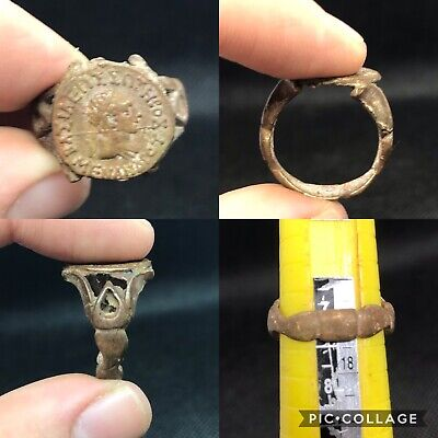 wonderful ancient neat Eastern excellent Bronze ring