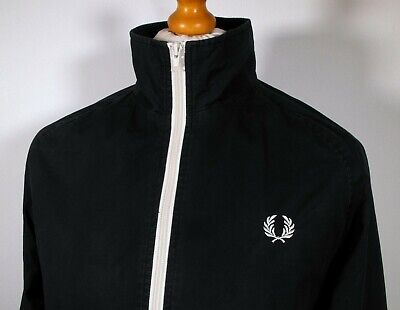 Fred Perry Black Cotton Bomber Harrington - M/L - Ska Mod Scooter Terraces Skins