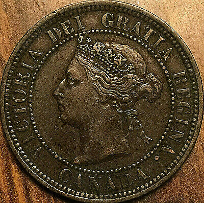 1887 CANADA LARGE CENT PENNY LARGE 1 CENT COIN - Excellent example!