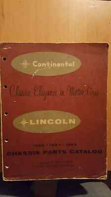 Lincoln And Continental Chassis Parts Book / Chassis Parts Cat 1956-57-58