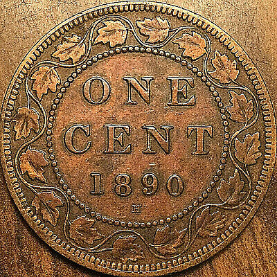 1890H Canada Large Cent Penny Large 1 Cent Coin