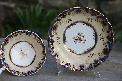 Unusual Antique Early / Mid 19th Century China Cup and Saucer Teacup Victorian