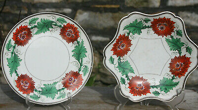 2 Antique 18th / Early 19th Century Wedgwood Plates Creamware / Pearlware Dish