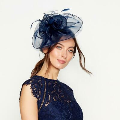 Debenhams Debut - Navy organza fascinator. BNWT