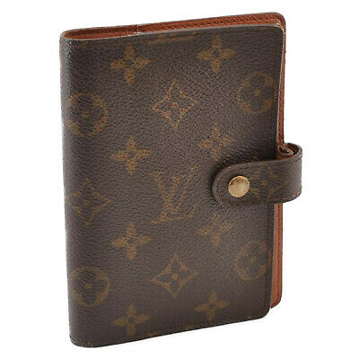 LOUIS VUITTON Monogram Agenda PM Day Planner Cover R20005 LV Auth cr575