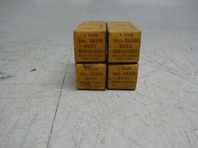 Bussmann No. 263-M Buss Fuse Reducers 60A 250V to 30A 250V 263-M Qty - 8