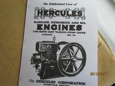 Hercules Corp Gasoline, kero, Oil Engines Catalog # 26  Hit Miss  Engine Catalog