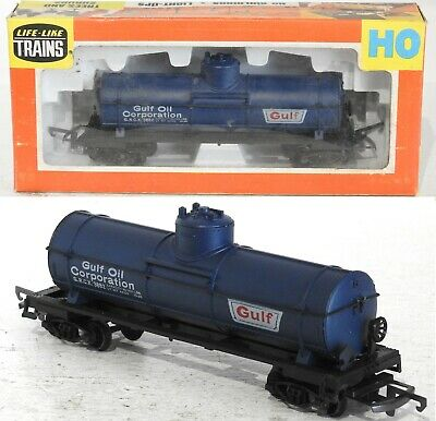 Life-Like Trains 08522 Gulf Oil Corporation Tank Car, Wagon Ho Gauge Model