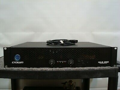 Crown XLS 202 Professional Power Amplifier Tested Good