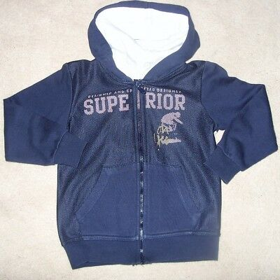 Tdm Project Navy Hooded Zip Up Jumper Size Age  4 Years