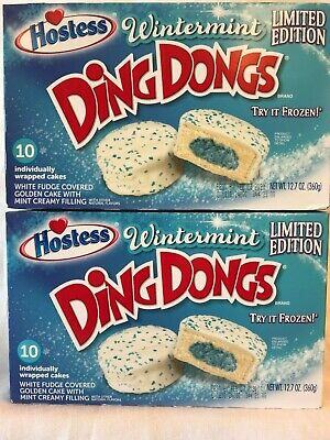 Hostess Limited Edition Wintermint Ding Dongs 10 Count/12.7 oz