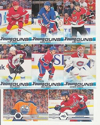 2019-20 Upper Deck Series 2 - 250 Card Set 50 Young Guns - Makar, Kakko, Suzuki