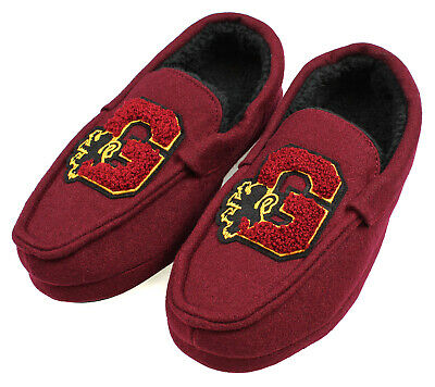 Harry Potter Men's Gryffindor House Moccasin Slippers Shoes Fuzzy Soft (XS, 3/4)