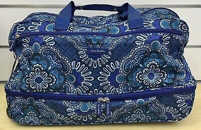 Vera Bradley Lighten Up Wheeled Carry On Rolling Luggage in Blue Tapestry