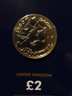 2020 £2 Two Pound Coin Mayflower Bunc Mint Uncirculated looks awesome