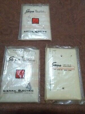 Vintage Sierra Electric  New  lot of 3 cover wall plate line of fine wiring