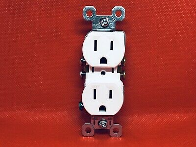 Lot of 50 Pass & Seymour 15-Amp 125-Volt White Single Outlet