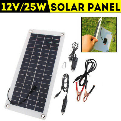 25W 12V Car Boat Yacht Solar Panel Trickle Battery Charger Outdoor Power UK x1