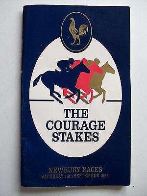 Newbury Races THE COURAGE STAKES 16/9/95 Steve Davis Autograph **GC**