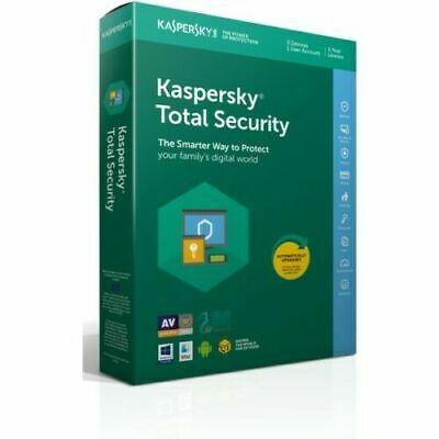 Kaspersky Total Security 2020 5 dispositivos 1 año