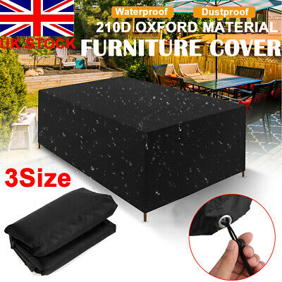 Extra Large Garden Rattan Furniture Cover Patio Table Outdoor Protector Black
