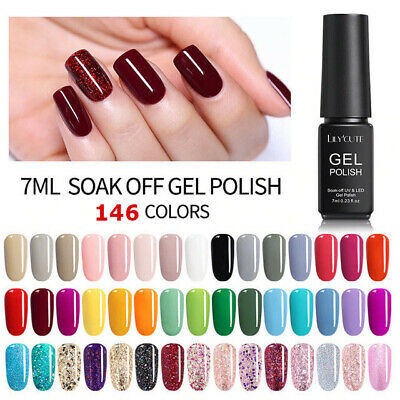 146 Colors 7ml UV Gel Nail Polish Soak Off UV/LED Gel Nails Varnish Manicure