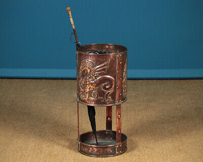 Antique Arts & Crafts Copper Stick or Umbrella Stand for Liberty & Co c.1890.