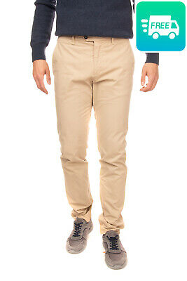 RRP €690 PORTS 1961 Chino Trousers Size 32 Garment Dye Zip Fly Made in Italy