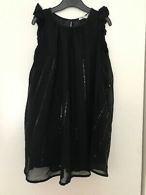 Lovely Girls Black Sequin Party Occasion Dress Aged 5-6 Years