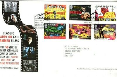 2008 Carry On And Hammer Films - Tallents House H/S Fdc From Collection B19