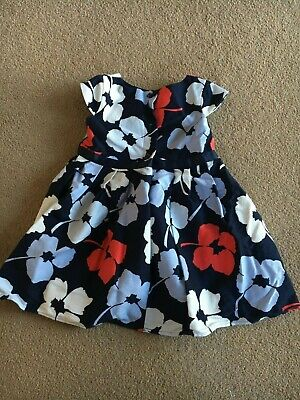 Girls floral dress - navy/white/red/light blue - Dunnes Stores - 9 to 12 months