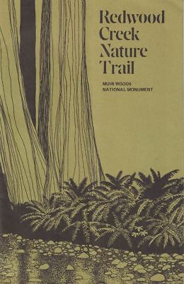 Redwood Creek Nature Trail Muir Woods Natl Monument 1960s Booklet & Pressed Leaf