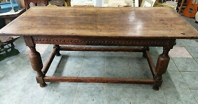 17th Century Style Oak Refectory Table