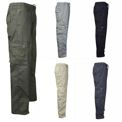 Mens New King Big Size Kam Combat Cargo Camo Army Work Pants Trousers Casual